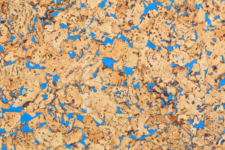 memorise: Large corkboard texture with blue paint Stock Photo