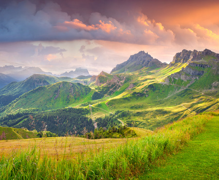 tyrol: Beautiful summer landscape of the Italian Alps, Dolomites, South Tyrol. Location Auronzo, Italy, Europe.