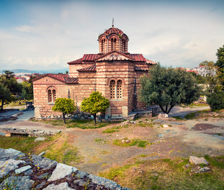 Church of the Holy Apostles, also known as Holy Apostles of Solaki or Agii Apostoli, located in the Ancient Agora of Athens, Greece.