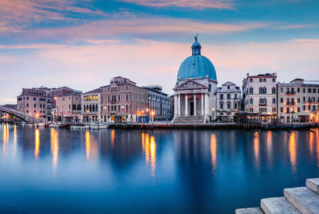 Fantastic spring sunrise in Venice with San Simeone Piccolo church. Colorful morning scene in Italy, Europe. Magnificent Mediterranean landscape. Traveling concept background. Zdjęcie Seryjne