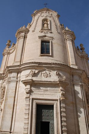 chiesa: The eighteenth century Chiesa del Purgatorio (Church of the Purgatory) in Matera, Basilicata, southern Italy.