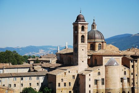 urbino: Urbino, a World Heritage Site and a medieval hillside town
