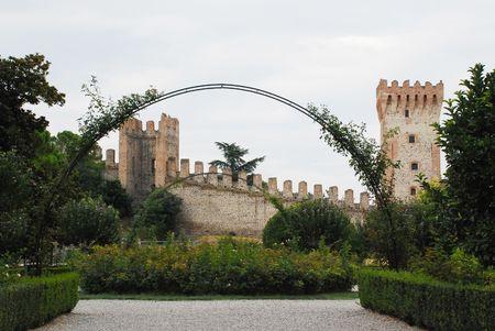 veneto: The gardens at Este Castle in Veneto, Italy
