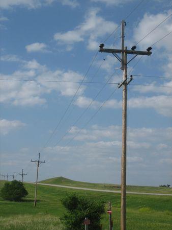 telegraph hill: A view across the flat plains of South Dakota