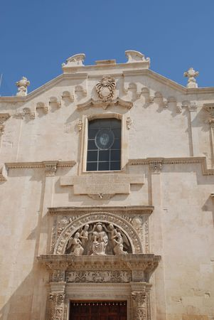 The Chiesa Santa Maria Degli Angeli church in the southern Italian city of Lecce Stock Photo - 3841115