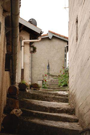 backstreet: A Backstreet hist�rico medieval en Triora, Liguria Foto de archivo
