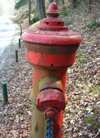bled: An old fire hydrant at Lake Bled in Slovenia  Stock Photo