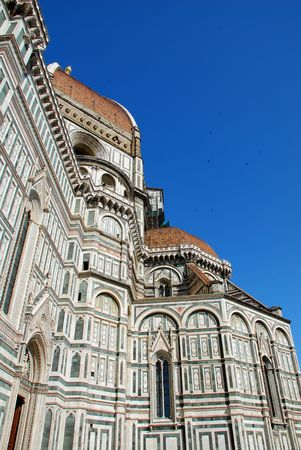 duomo of florence: A side shot of the famous Duomo in Florence, Tuscany, Italy  Stock Photo