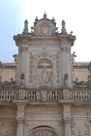 southern europe: The 17th century baroque Duomo in the city of Lecce, in he southern Italian region f Puglia