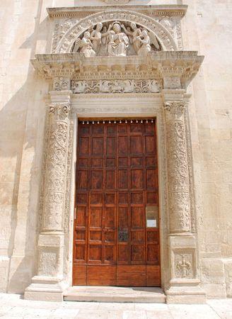 wood panelled: The Chiesa Santa Maria Degli Angeli church in the southern Italian city of Lecce