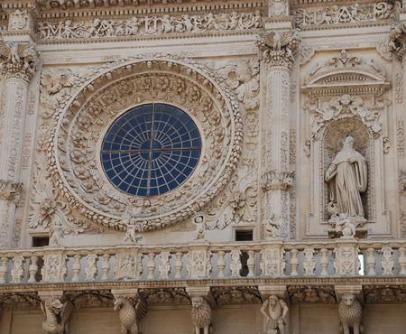 17th: The 17th century baroque Basilica di Santa Croce in the southern Italian city of Lecce