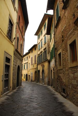 A street in the historic Tuscan town of Castiglion Fiorentino, Italy