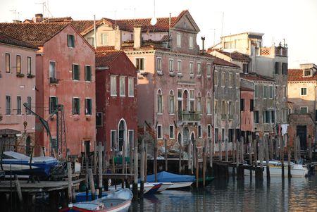 backstreet: Un patio en Venecia, Italia
