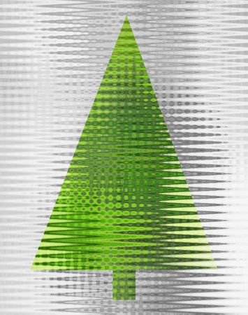 An abstract silver and green Christmas tree design Stock Photo - 4390091