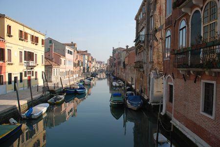 backstreet: Un tranquilo callej�n en Venecia, Italia, lejos de las multitudes de turistas