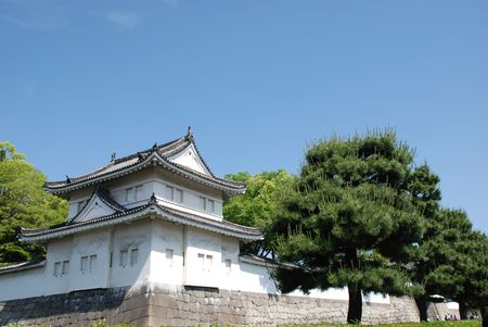 The UNESCO World Heritage Site listed Nijo Castle in Kyoto, Japan  Editorial