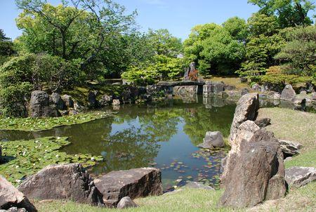 nijo: Ninomaru gardens within the UNESCO World Heritage Site listed Nijo Castle in Kyoto, Japan