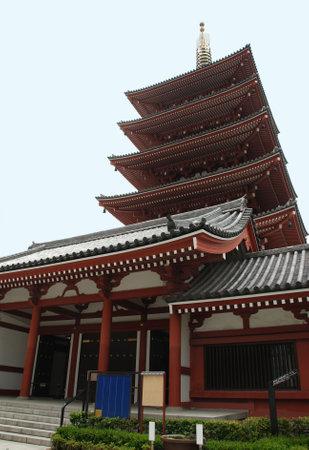 storied: The five storied pagoda at Sensi-Ji Temple in Asakusa, Tokyo