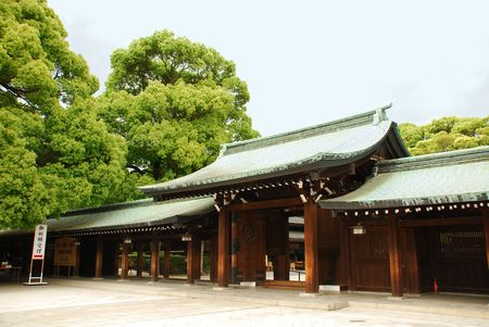 The Meiji Jingu Shinto shrine in Tokyo, Japan