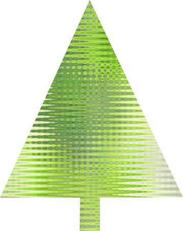 An abstract lime green Christmas tree design  Stock Photo - 5680632