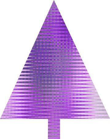 An abstract purple Christmas tree design  Stock Photo - 5680633