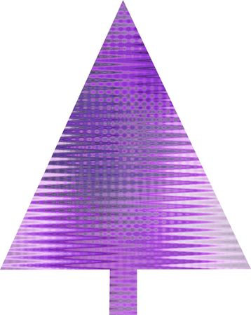 An abstract purple Christmas tree design Stock Photo - 5680633