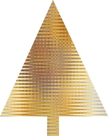 An abstract orange Christmas tree design Stock Photo - 5700092