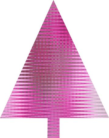 An abstract pink Christmas tree design  Stock Photo - 5700090