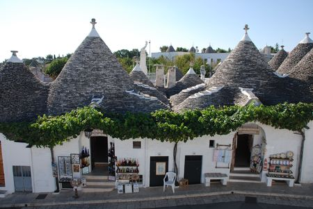 Alberobello, Italy, 09.01.08: A souvenir shop in a trullo building. The trulli are protected under UNESCO World Heritage laws. In part of town, many of them have been converted to tourist shops or restaurants Editorial