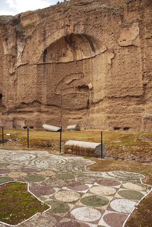 3rd century: The Terme di Caracalla Roman Baths in Rome, Italy. Built in the 3rd century AD to include a library and gymnasiums in addition to the baths, it nowadays sometimes used as a concert and opera venue