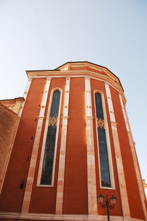 Santa Maria Annunciata, the cathedral, or duomo, in Vicenza, Veneto, Italy. The facade dates from the 1560s, the rest was reconstructed after Seond World War bombing damage.  photo