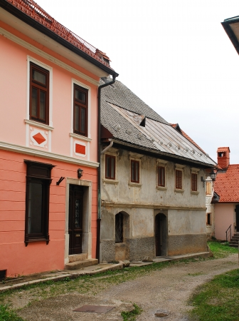tatty: Historic building in the medieval Slovenian town of Skofja Loka