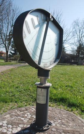 reloj de sol: La altura del reloj de sol o Orologio Solare d
