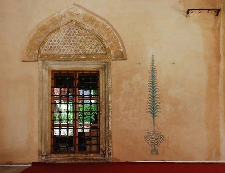 mehmed: A door on the exterior of Karadjozbey Mosque in Mostar