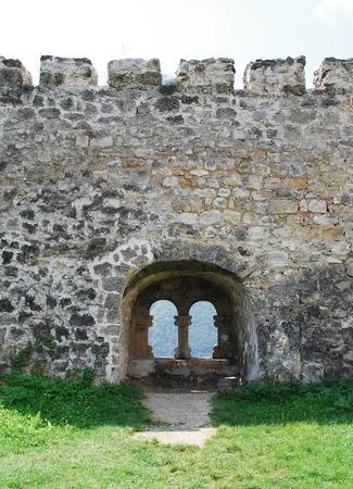fourteenth: Wall in fortress dating from around the fourteenth century in Jajce, in the Bosanska Krajina region of cental Bosnia and Herzegovina. It was built by Hrvoje Vukcic Hrvatinic, the founder of Jajce.