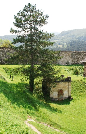 fourteenth: The interior of fortress dating from around the fourteenth century in Jajce, in the Bosanska Krajina region of cental Bosnia and Herzegovina.