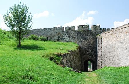 fourteenth: Fortress dating from around the fourteenth century in Jajce, in the Bosanska Krajina region of cental Bosnia and Herzegovina. Stock Photo