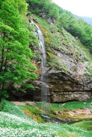 venezia: The Fontane di Goriuda waterfall in Friuli Venezia Giulia, north east Italy Stock Photo