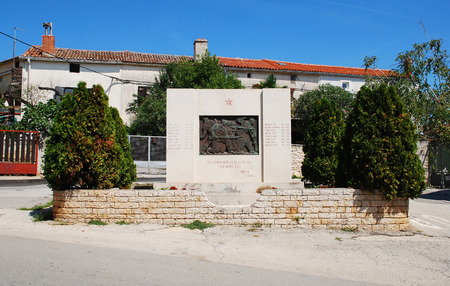 world war two: A communist-era war memorial to the dead of World War Two in Liznjan in southern Istria, Croatia Editorial