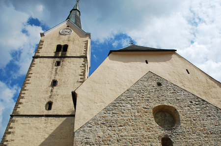 The Parish Church of Saint Elizabeth in Slovenj Gradec - Cerkev Sv Elizabete in Slovenian. This historic Romanesque church was consecrated in 1251 and then remodelled around 1500. Its belltower stands at 50m.