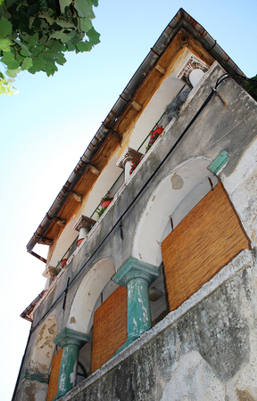 tatty: The historic Roman House in the western Croatian coastal town of Bakar. This late Baroque building was built in the 18th century in neo-Renaissance style, probably as a convent