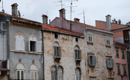 disrepair: Historic old buildings in the southern Istrian town of Pula in Croatia.