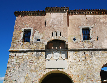14th: The 14th century city gate in the medieval Istrian hill town of Motovun in central Croatia. Stock Photo