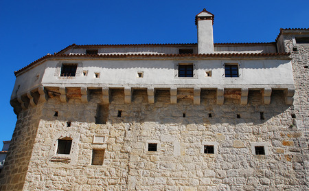 blue grey coat: The medieval fortification of Pazin Castle, known as Kastel Pazin in Croatian, is the largest and best preserved castle in Istria. It was constructed of hewn stone or ashlar in the 10th century.