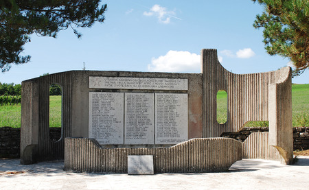 world war two: A communist-era war memorial to the dead of World War Two in Lindar in central Istria, Croatia Editorial