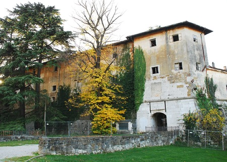 disrepair: Gradisca dIsonso Castle in Friuli, north east Italy. Built in the late 15th century, it was enlarged during the 16th and 17th centuries, and was later used as a jail. Today, this state-owned building is in very bad condition, and it failed to recieve any Editorial