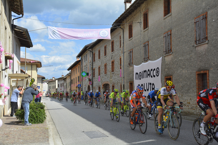 Moimacco, Italy - May 20th 2016. The 2016 Giro d'Italia passes through the village of Moimacco in Friuli Venezia Giulia for the first time in 40 years. Editorial