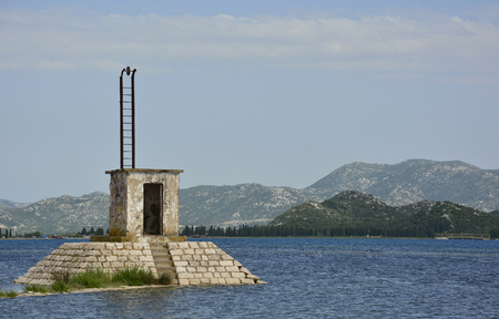 neretva: A peaceful stretch of Croatian coast near the village of Blace in Dubrovnik�??Neretva County. Stock Photo