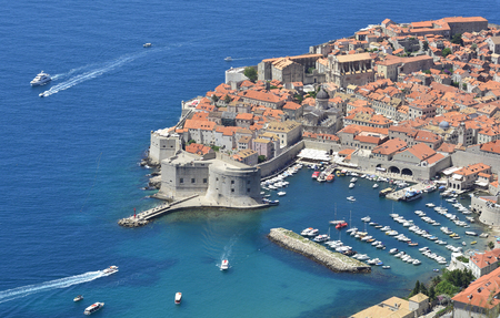 The historic old town of Dubrovnik on Croatias Adriatic coast.