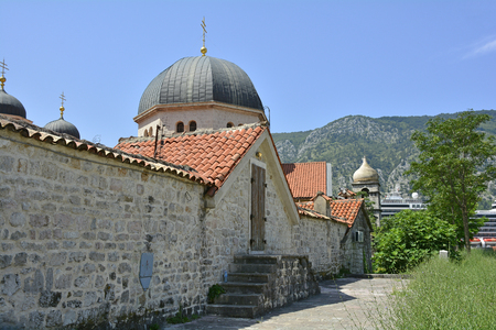 saint nicholas: A back view of the Russian Orthodox Church Saint Nicholas in Kotor, Montenegro. Stock Photo